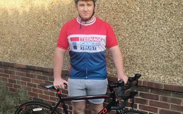 Apprentice Flynn getting reading for the London to Brighton Bike Ride